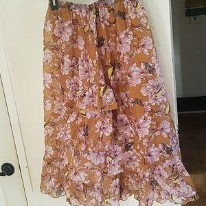 H & M ruffled skirt with butterflies.